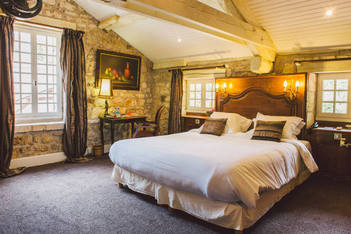 Traditional rustic master bedroom