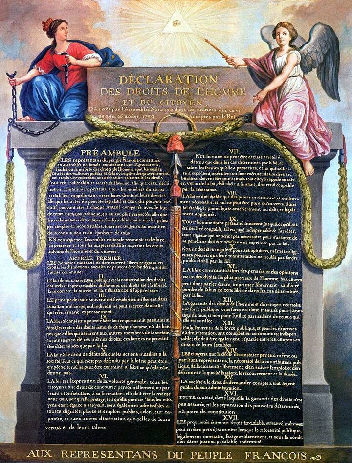 The Declaration of the Rights of Man and of the Citizen of 26 August 1789