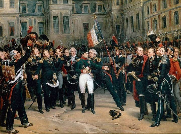 Napoleon's farewell to his Imperial Guard by Antoine Alphonse Montfort